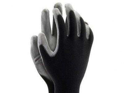 Rękawiczki robocze monterskie POLIURETAN 6-11 czarne