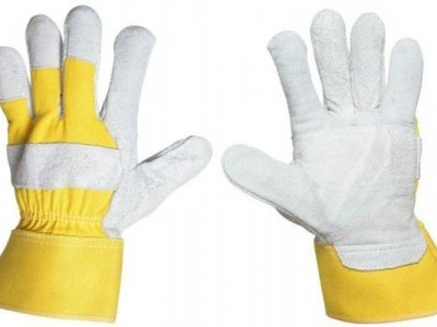 Rękawice wzmacniane skórą dwoinową bydlęcą r.10