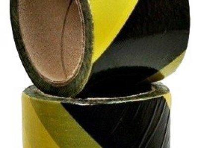 Taśma ostrzegawcza żółto-czarna 100m jednostronna